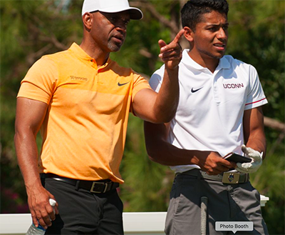 Professioinal, Gerry Hammond and Nabeel Khan during the 2017 PGA Minority Collegiate Golf Championship held at PGA Golf Club on May 11, 2017 in Port St. Lucie, Florida. (Photo by Montana Pritchard/PGA of America)