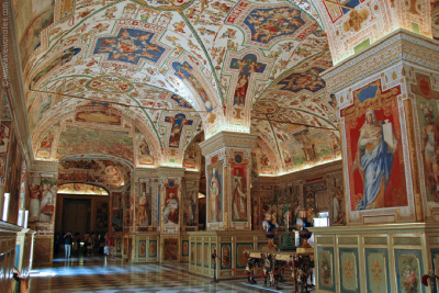 SISTINE HALL AT VATICAN LIBRARY
