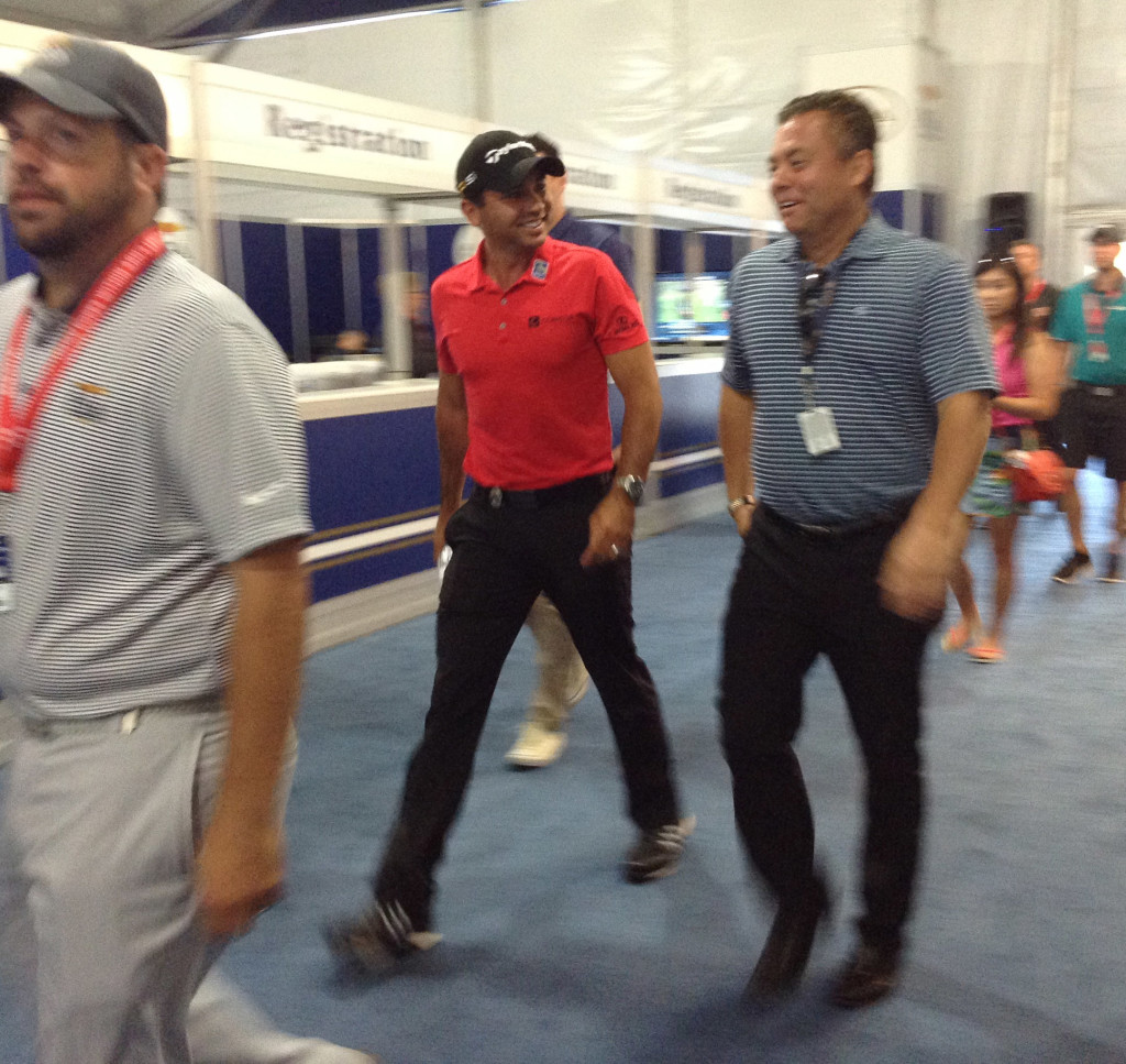 World number one golfer Jason Day after media interview on Wednesday morning.