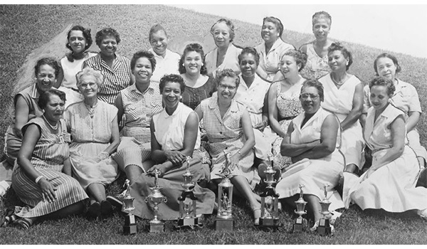 Women members of at the Wake-Robin Golf Club, an African-American golf club in Washington D.C., on Aug. 29, 1989. (Afro American Newspaper / Gado / Getty Images)