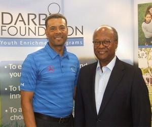 (L-R) Chris Arceneaux, Founder, The Darby Foundation with Earnie Ellison Jr.,Managing Partner, Ellison Consulting Group LLC