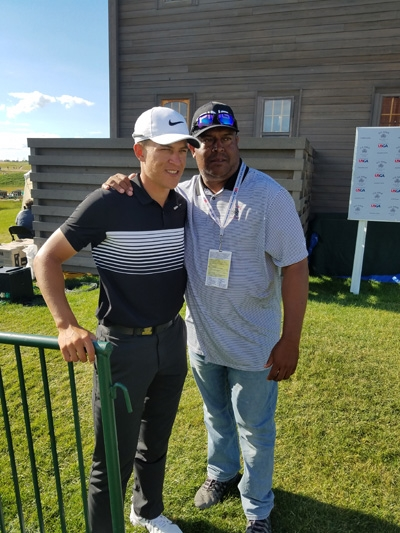 Jeff champ (right) and his son Cameron Champ.