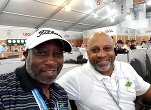 Derrick and Craig Stingley, providing U.S. Open tournament coverage.