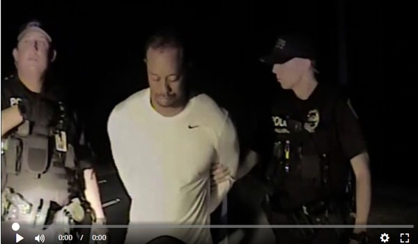 Tiger Woods Arrest Video-600x350