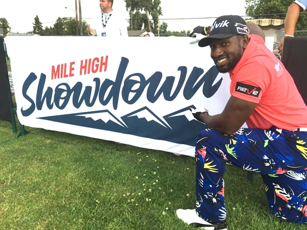 Long Drive Champion Maurice Allen preps for the Showdown