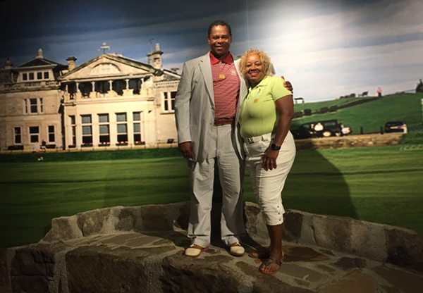 Craig Kirby, President and Founder, Golf. My Future. My Game. and LaJean Gould,President and Founder Women in Golf Foundation Inc. at the World Golf Hall of Fame in Jacksonville FL.