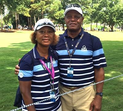 PGA Championship volunteers Deloris Taylor and Everett Taylor.