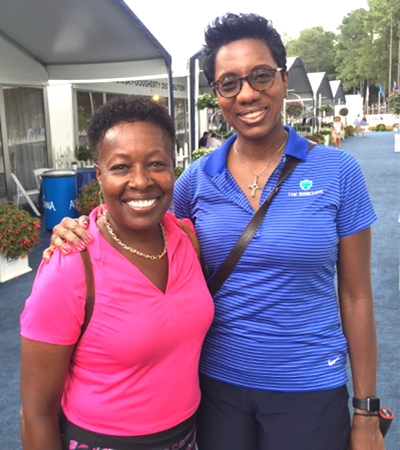 Rhonda Anderson, Executive VP/COO of the YMCA of Greater Charlotte and Bridget–Anne Hampden.