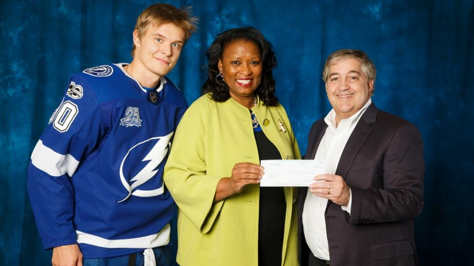 The Tampa Bay Lightning honored Clemmie Perry as the sixth Lightning Community Hero of the 2017-18 season.