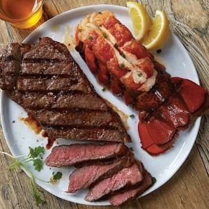 Kansas City Strip and North Atlantic Lobster Tails