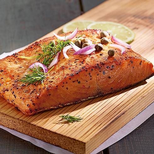 This wild-caught sockeye salmon is one of the most intense, flavorful filets you will ever experience with its deep red-orange color and firm texture.