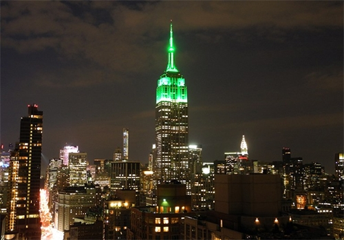 Empire State Building Shines Green Tonight TO Celebrate 2019 Masters